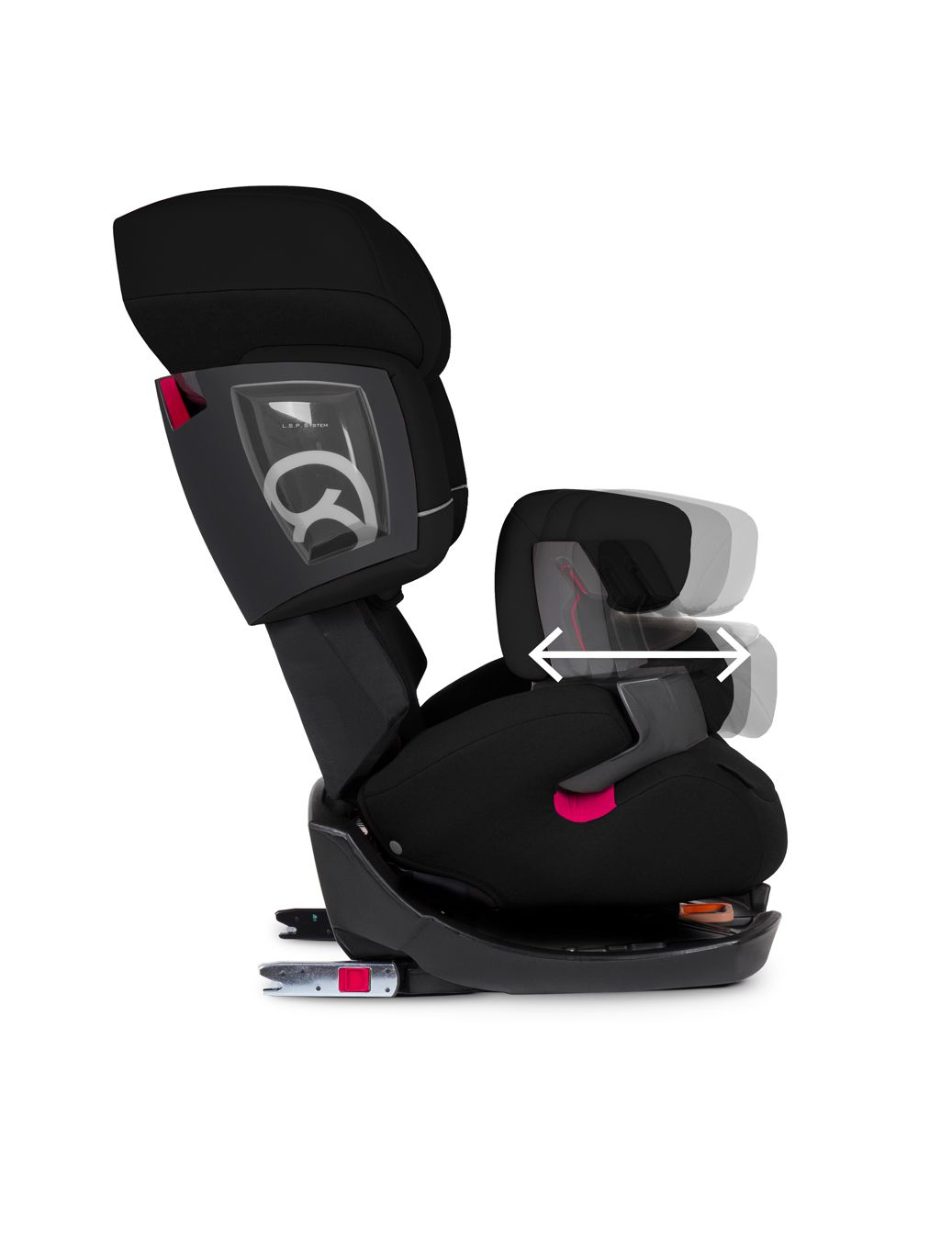 Cadeira Pallas 2-fix Pure Black - Cybex