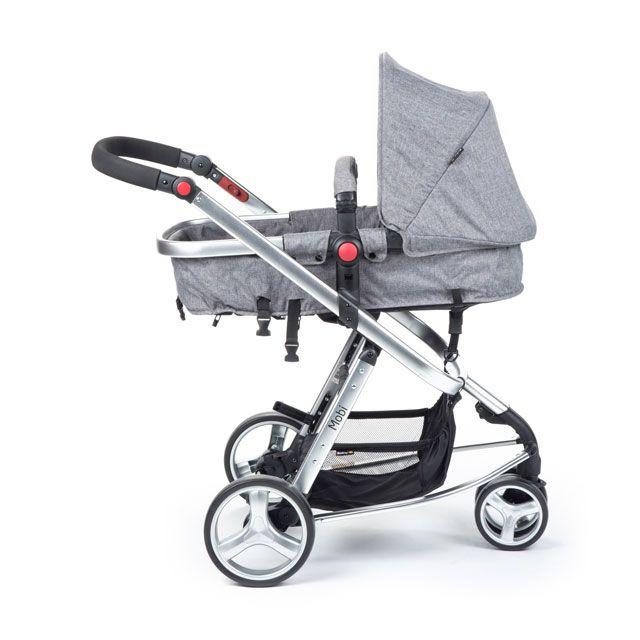 Carrinho Travel System Mobi Grey Denim Silver Safety 1st - Dorel  Ref Cax90258