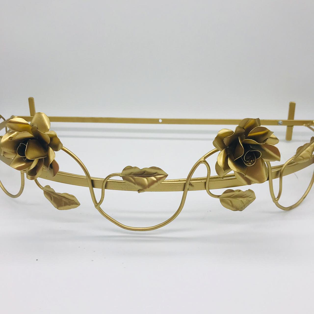 Dossel Dourado Brc Folhas - Magia e Fantasia Ref 7931