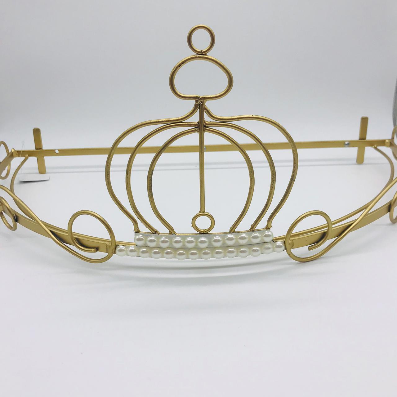 Dossel Dourado Coroa Com Perolas - Magia e Fantasia Ref 7935