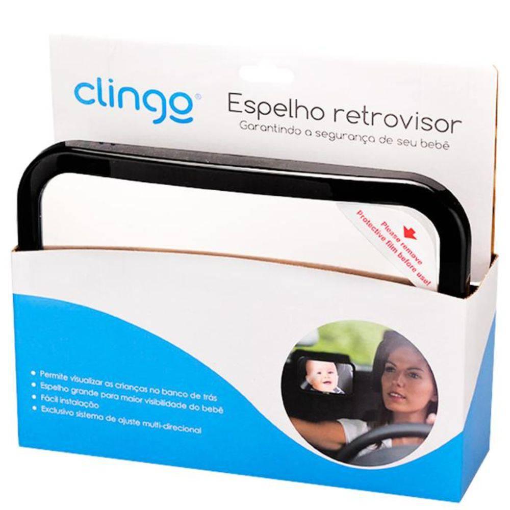 Espelho Retrovisor Retangular Square - Clingo C2204