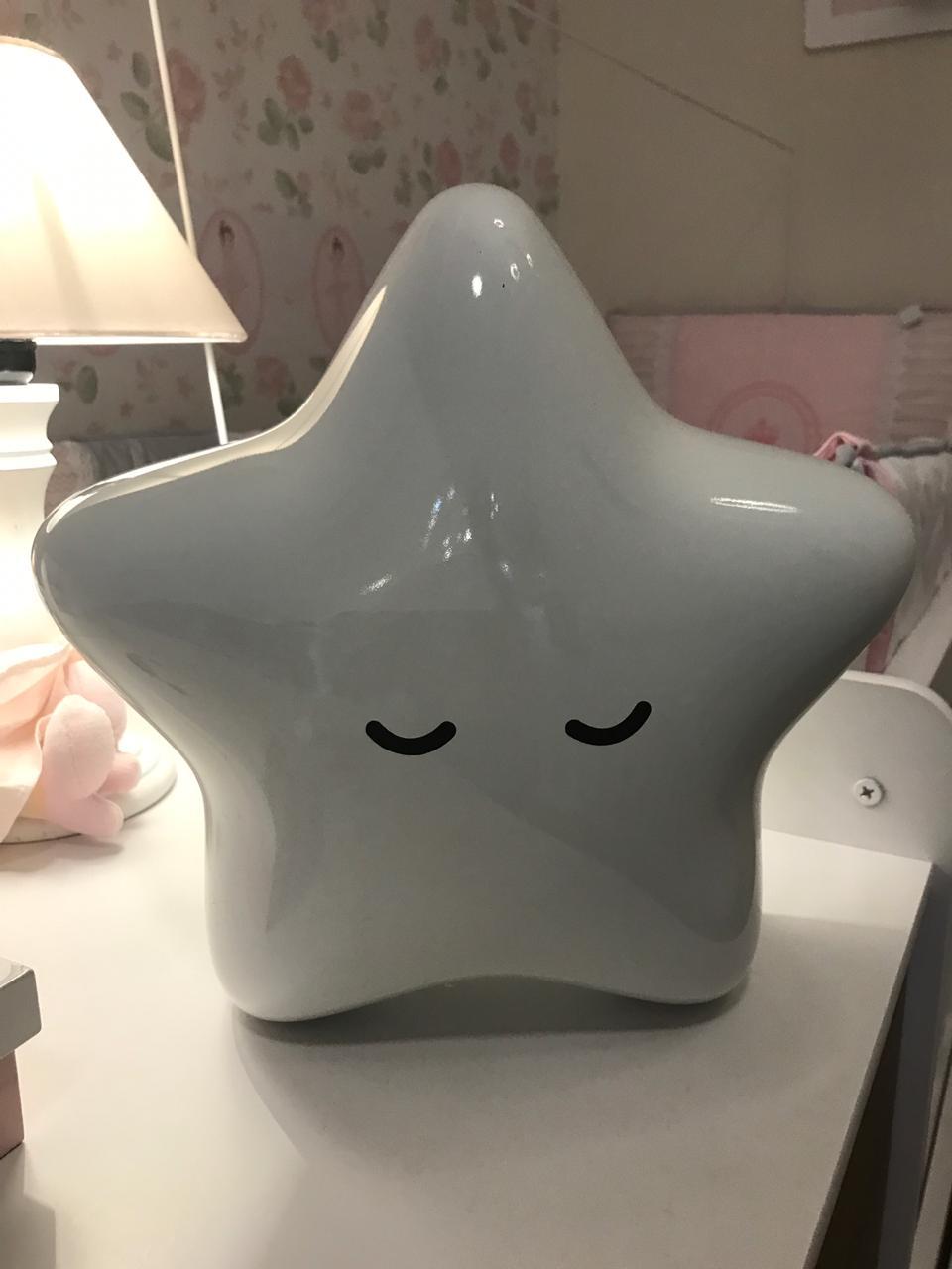 Estrela Laqueada Branca Decoração - Decorfun Ref 10010110