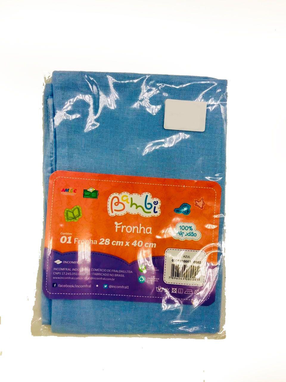 Fronha Liso Azul - Bambi Incomfral Ref 0200100020002