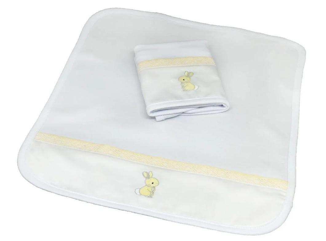 Kit 2 Boquinhas Suedine Paris Amarelo Chambray - Ac Baby Ref 07163 10U