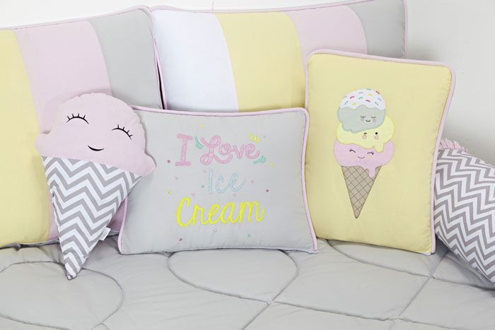 Kit Cama Babá Ice Cream 9 Pçs - Batistela Ref 30786