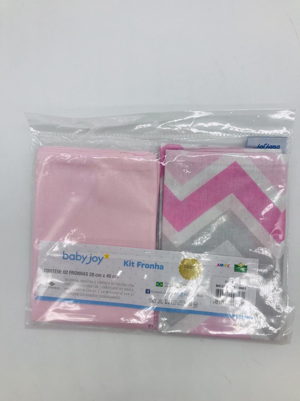 Kit Fronha 2 Und Chevron Rosa - Baby Joy Incomfral Ref 0412130001-0001