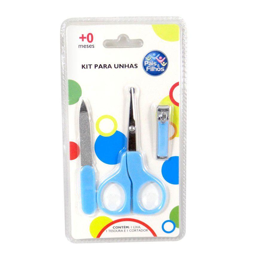 Kit Manicure Azul - Pais e Filhos Ref 7794