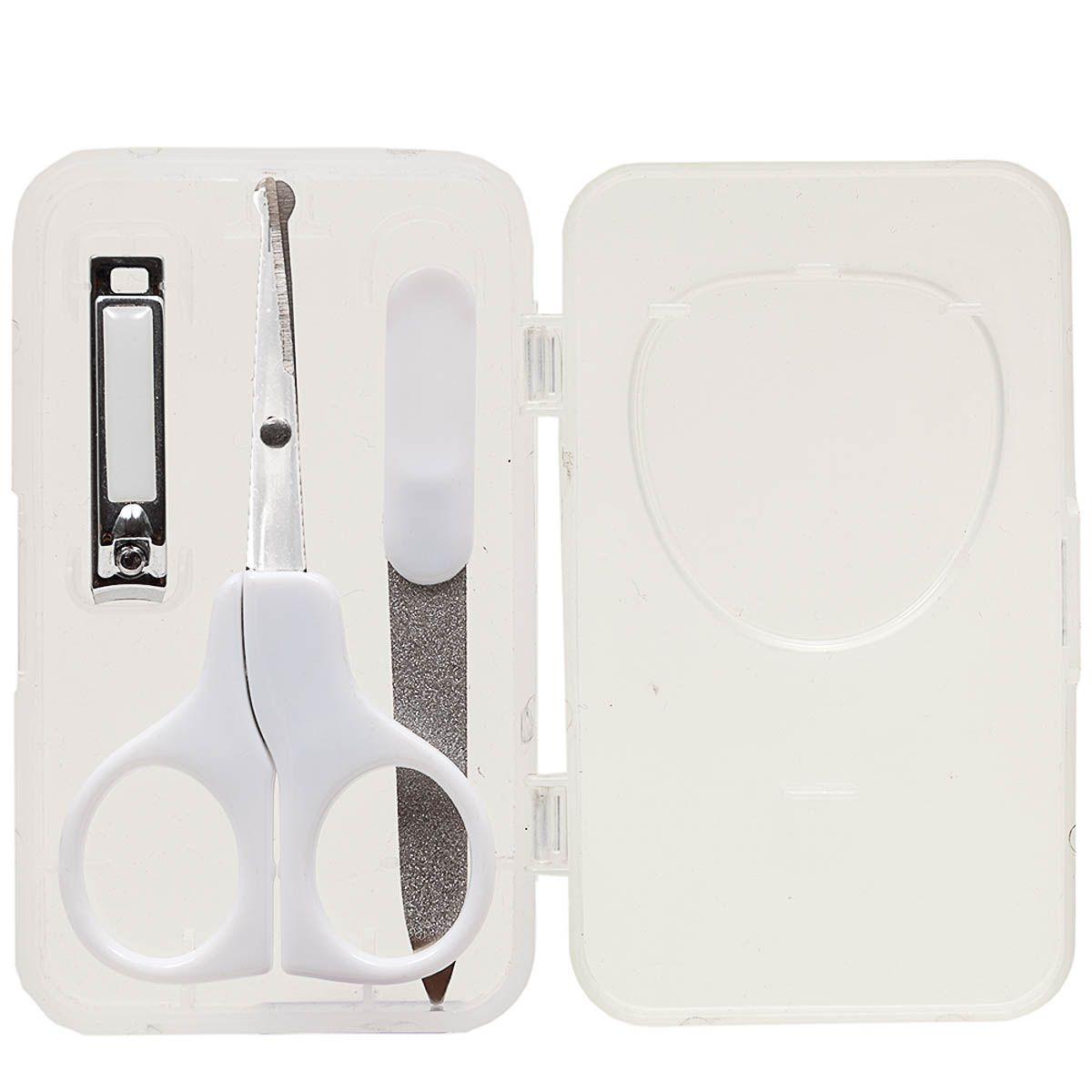 Kit Manicure Com Estojo Branco - Buba Ref 5245