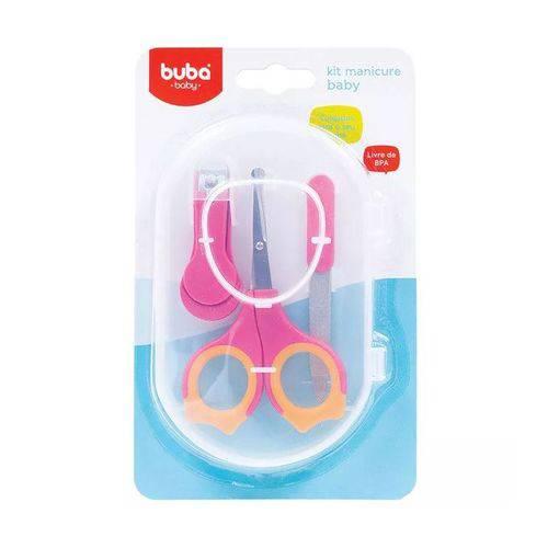 Kit Manicure Estojo Rosa - Buba Ref 6140