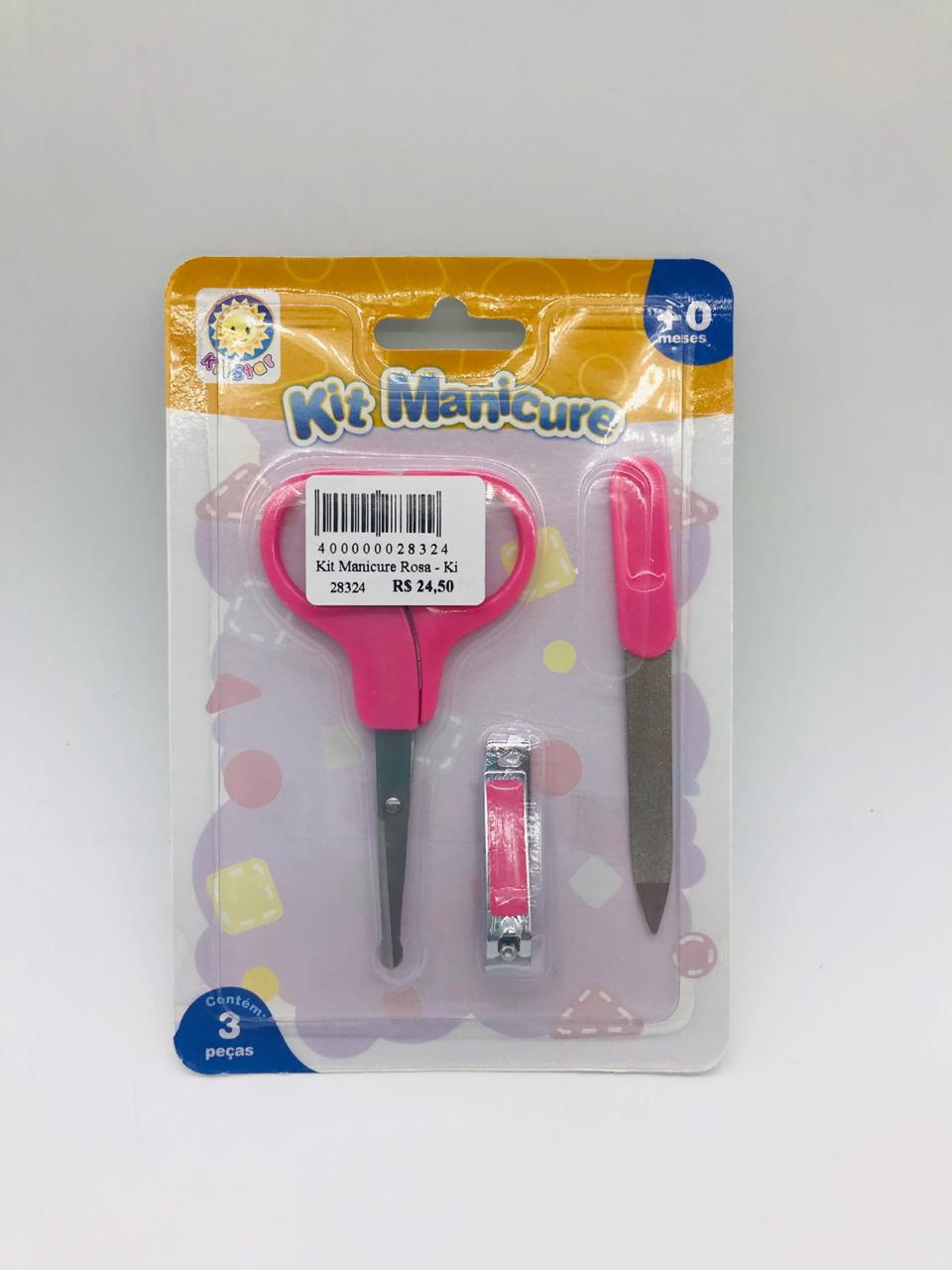 Kit Manicure Rosa - Kidstar Ref 150