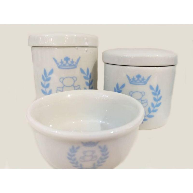 Kit Porcelana Branco Príncipe - 3 PÇS