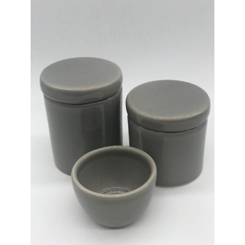 Kit Porcelana Cinza - Rossi Nieri