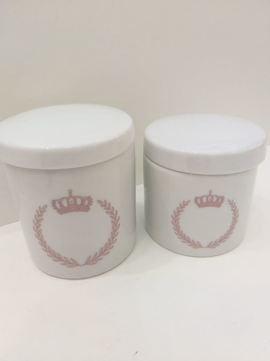 Kit Porcelana Com 2 Peças Princesa