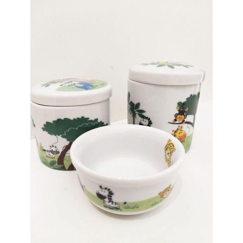 Kit Porcelana Zoo -  3 PÇS