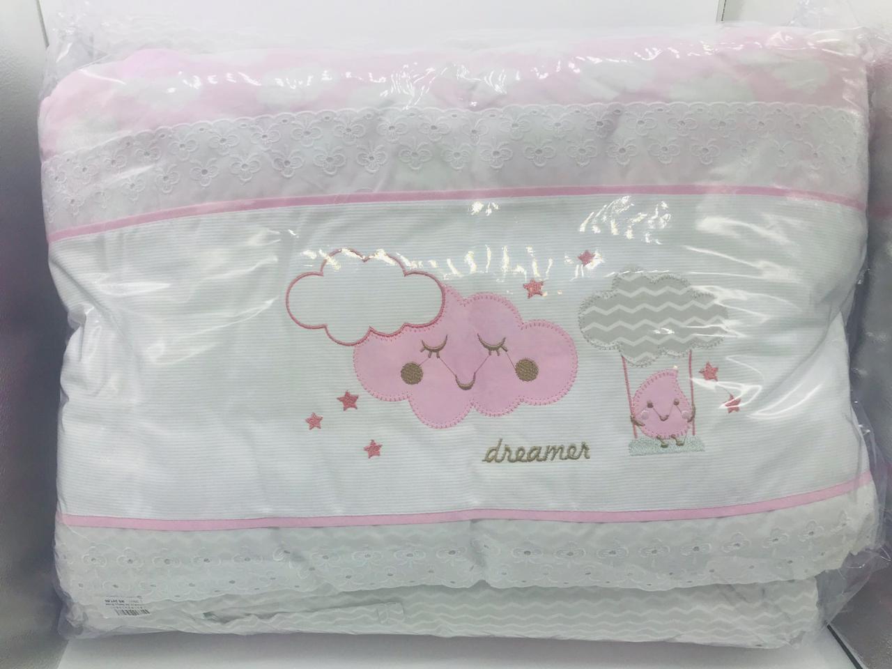 Kit Protetor Nuvem Rosa 3 Pçs - Alvinha Minasrey Ref 5807