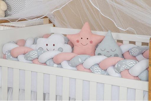 Kit Trança Cinza e Branco Detalhes de Balão - m Baby