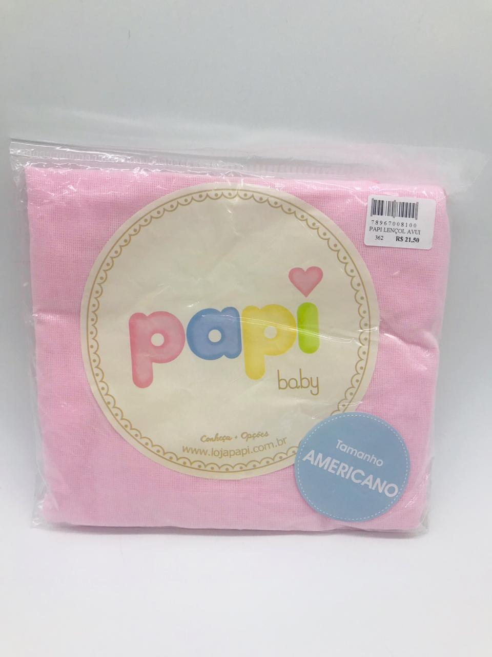 Lençol Avulso Americano Rosa - Papi Ref 2915 Papi - Bebe