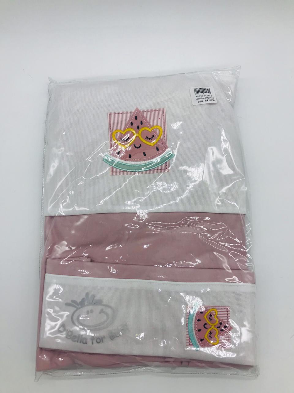 Lençol de Berço Coquelicot Malha Melancia - Dbella Ref 02309-006u