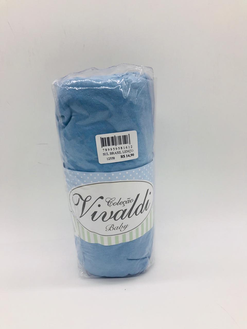 Lençol Liso Azul - Vivaldi Sul Brasil Ref 1111