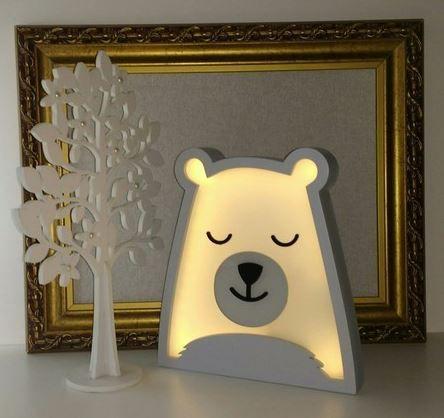Luminária Urso Polar - rh Luminária Ref Lml06