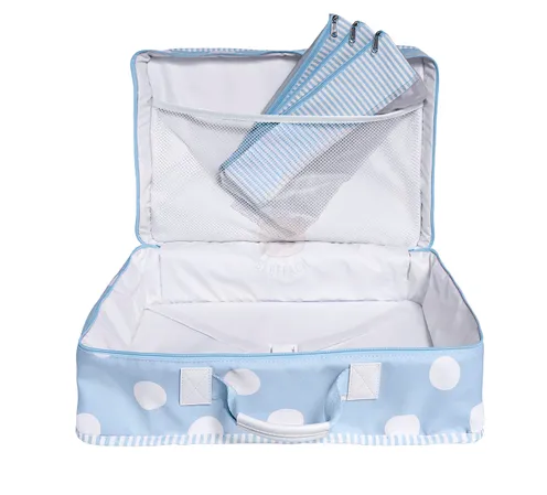 Mala de Viagem Vintage Bubbles Azul - Masterbag Ref 12bub402