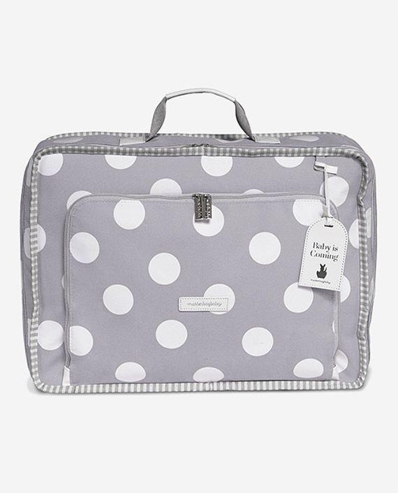 Mala de Viagem Vintage Bubbles Cinza - Masterbag Ref 12bub402