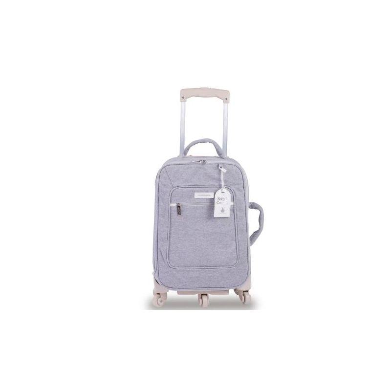 Mala Rodinha 1 Compartimento Moletom Cinza - Masterbag Ref 11MOL405