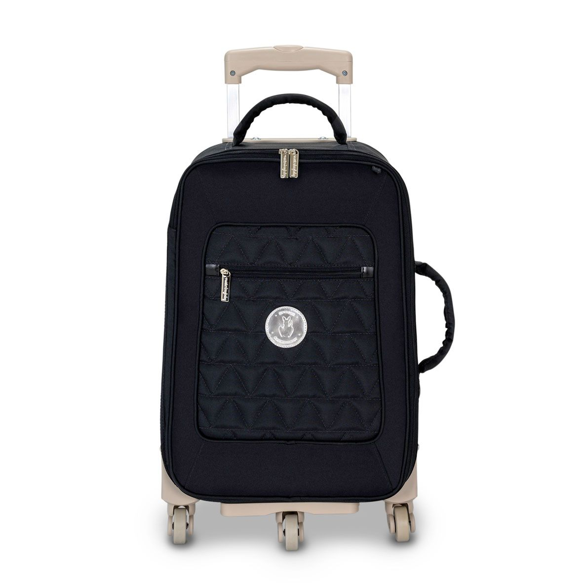 Mala Rodinha 1 Compartimento Preta / Prata - Masterbag Ref 11NYL405