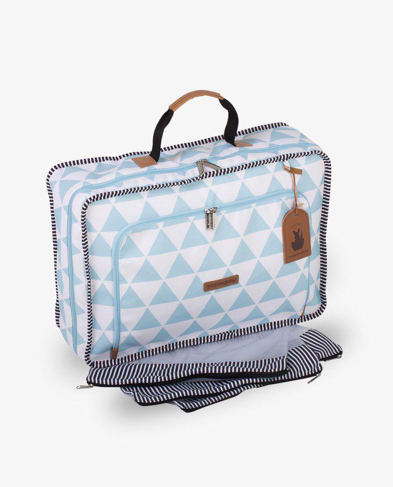 Mala Vintage Manhattan Azul - Masterbag Ref 12man402