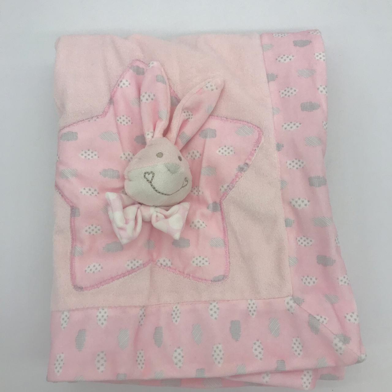 Manta Dobrada Coelhinha Rosa - Baby Joy Ref 20002