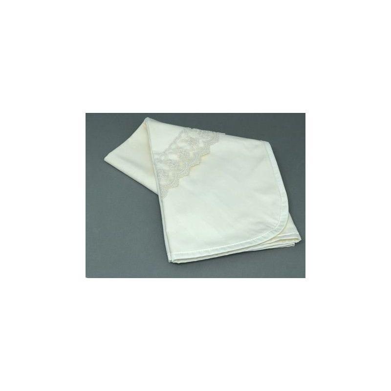 Manta Flanela Renda Off White - ac Baby Ref 05226