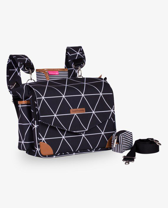 Bolsa Mommy Preto Manhattan - Masterbag Ref 12man399