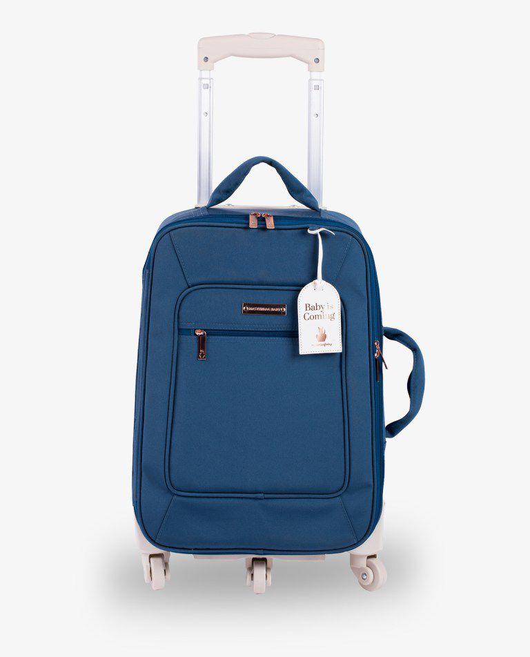 Mala Rodinha Azul Petroleo Rose Gold - Masterbag  Ref11ros404