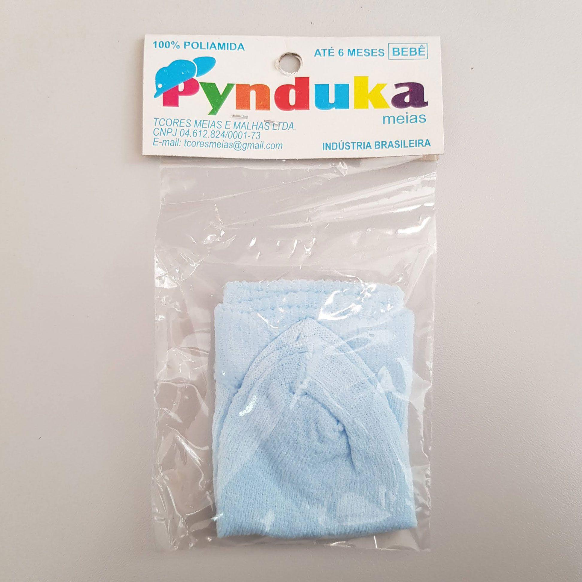 Meia Infantil 0-6 meses 1 par Azul - Pynduka
