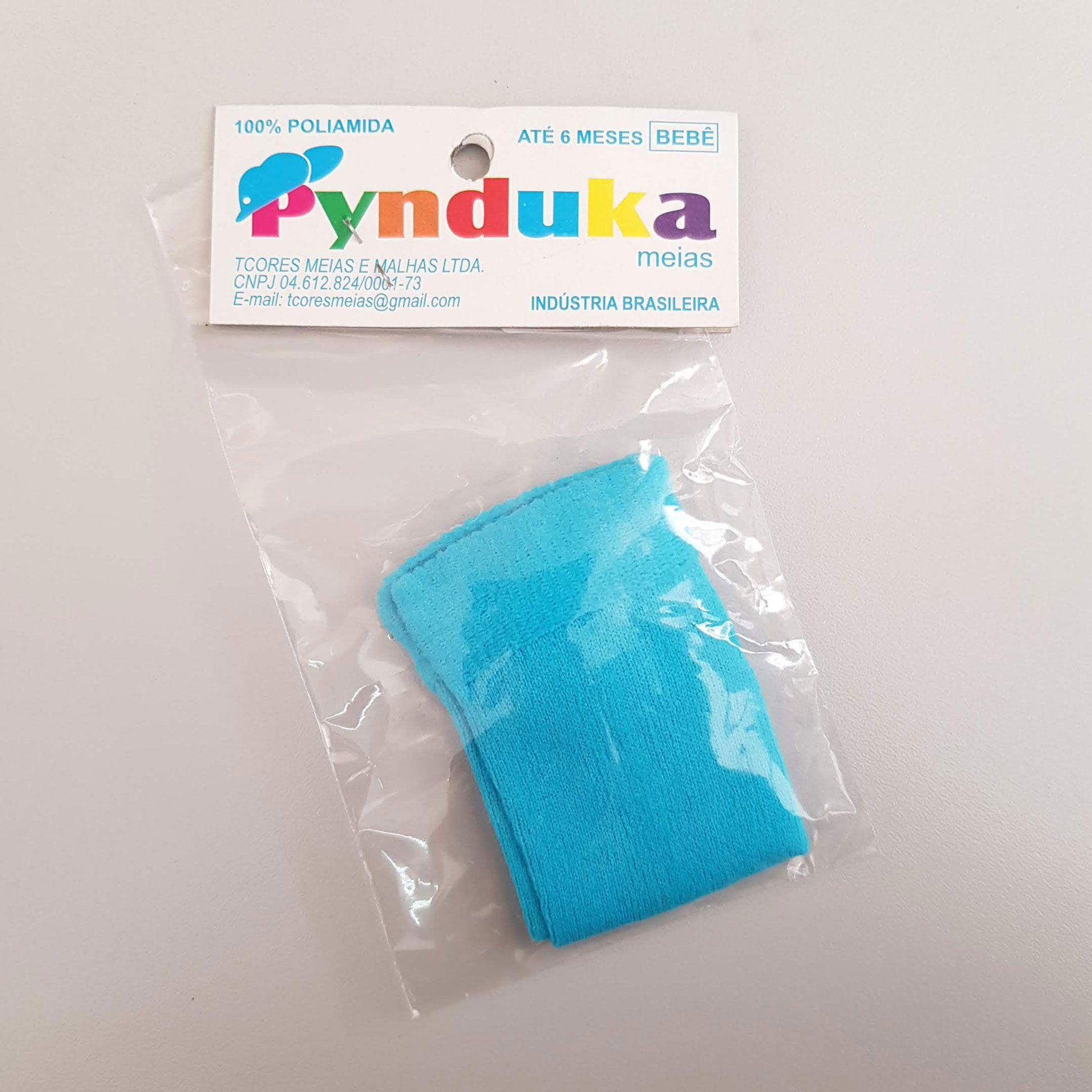 Meia Infantil 0-6 meses 1 par Turquesa - Pynduka