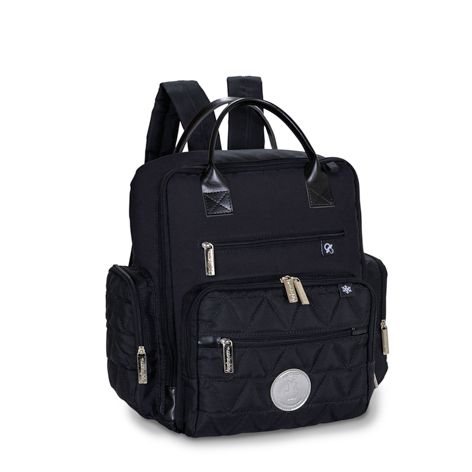 Mochila Urban Preta e Prata Nylon Glow - Masterbag Ref 11NYL313