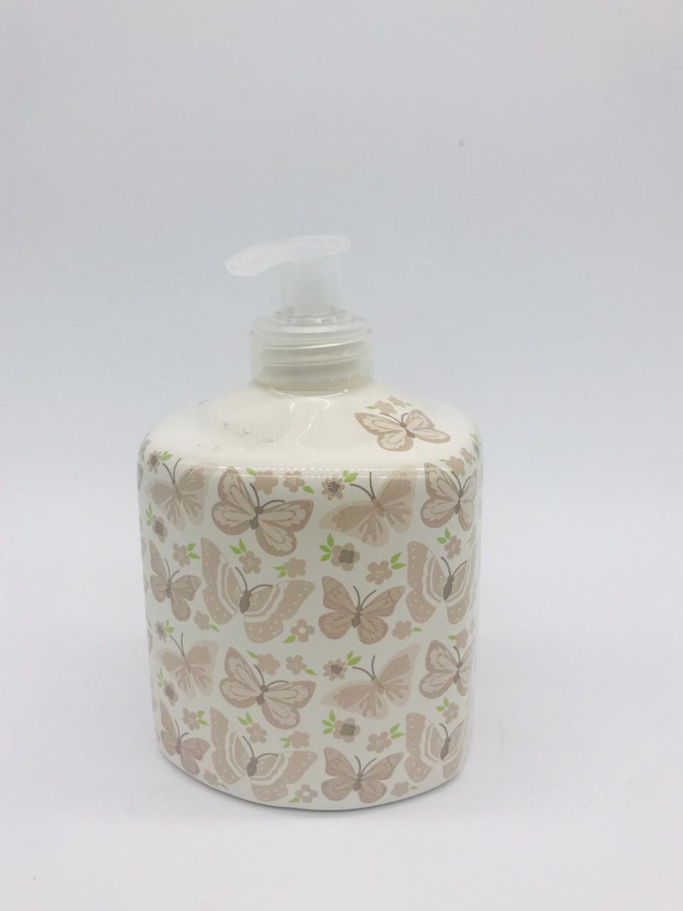 Porta Álcool Gel Porcelana Borboletas -  1 UND