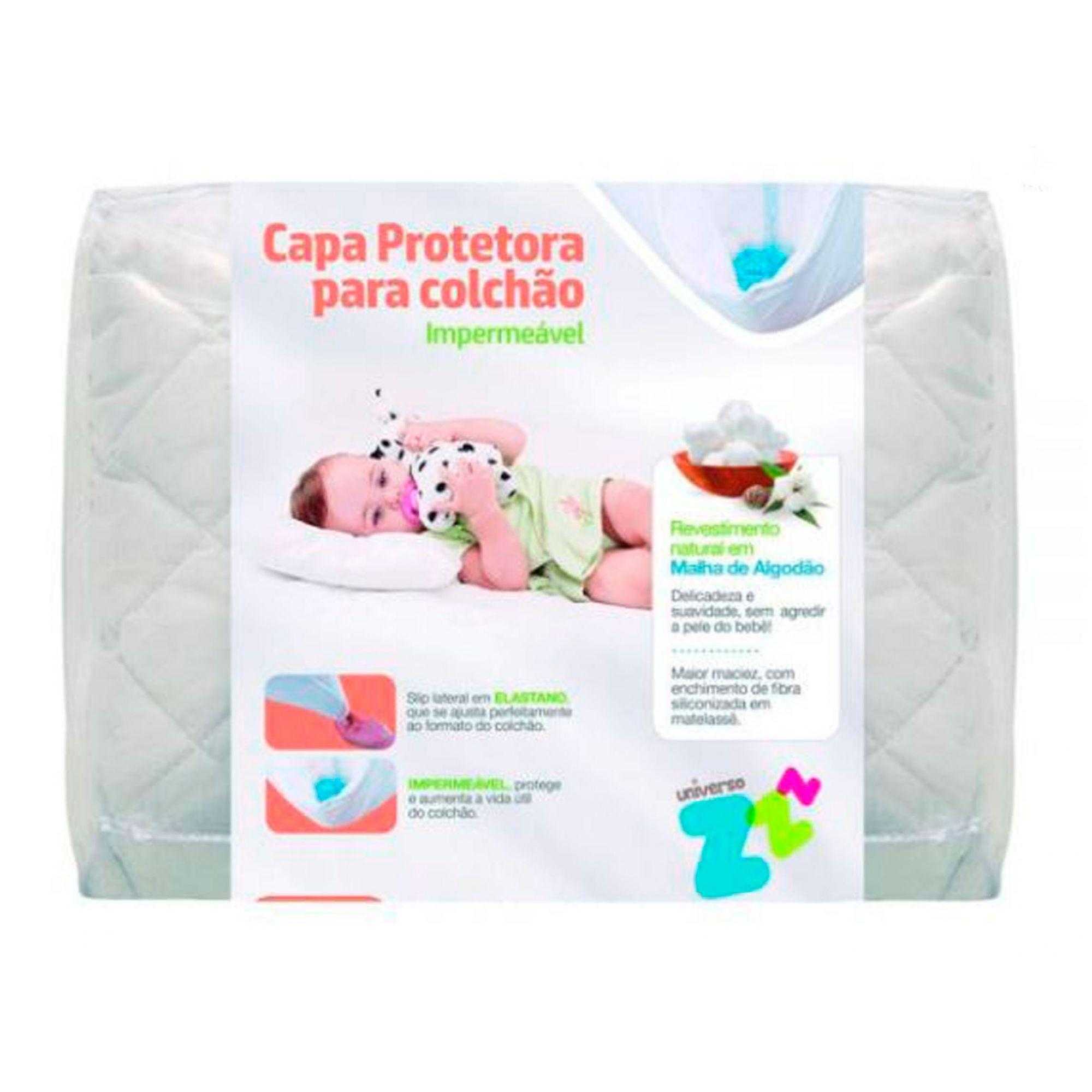 Protetor de Colchão Impermeavel p/ Berço Branco- Fibrasca Ref 9758