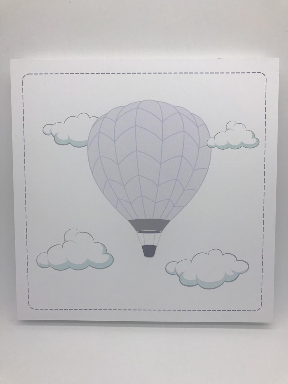 Quadro Moderninho Balão Fundo Branco - Divino Talento Ref 7273