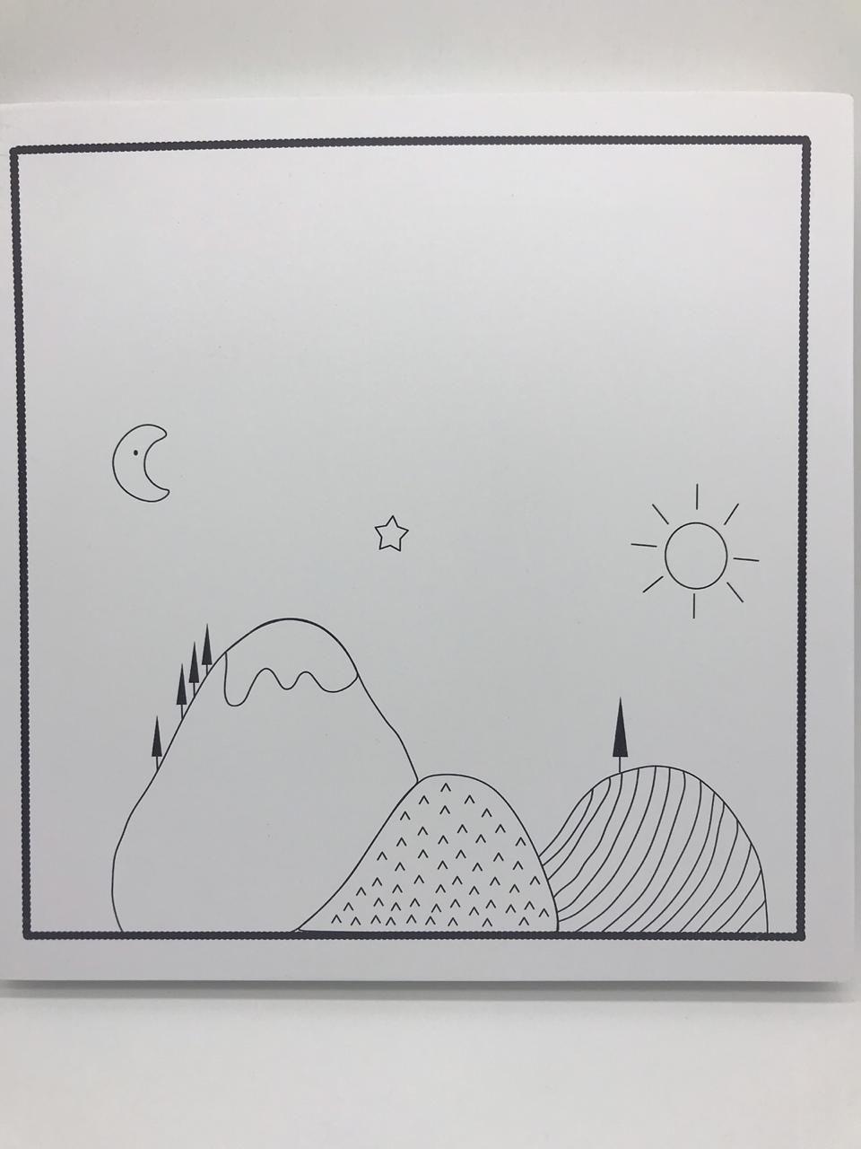 Quadro Moderninho Blanc Preto Montanhas - Divino Talento Ref 7189