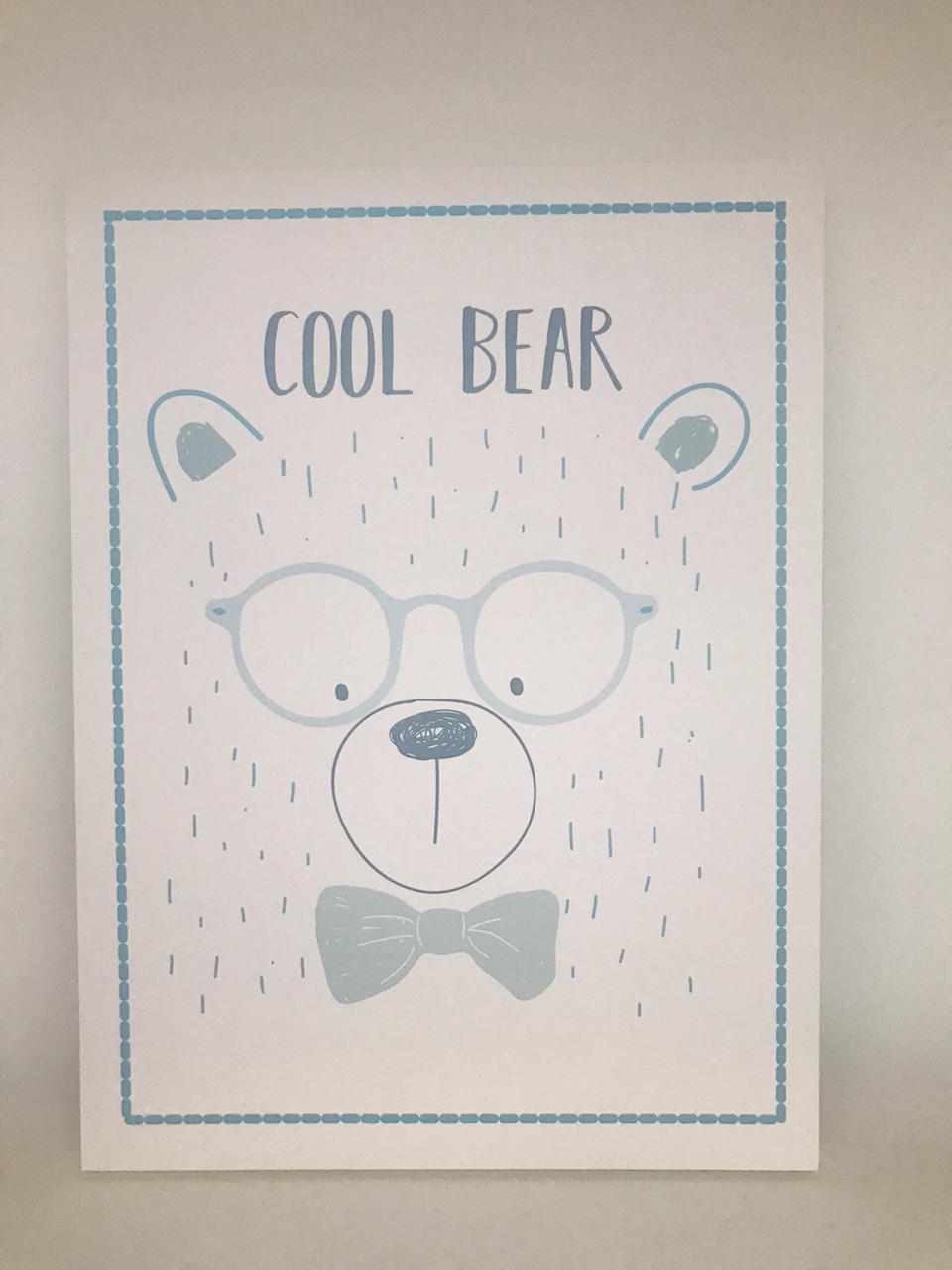 Quadro Moderninho Cool Bear - Divino Talento Ref 7184