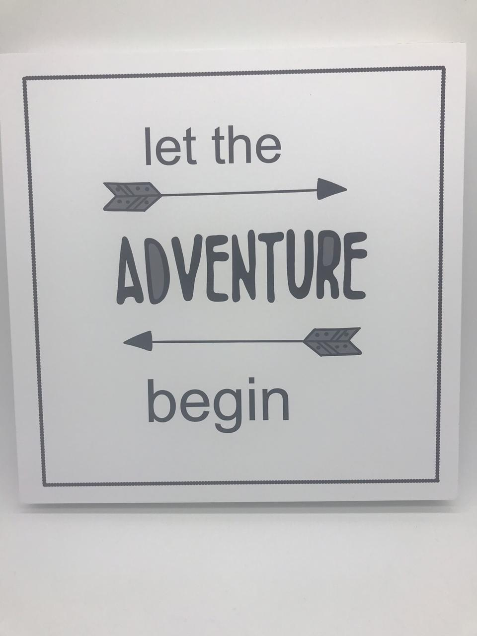 Quadro Moderninho Let The Adventure Begin - Divino Talento Ref 7188