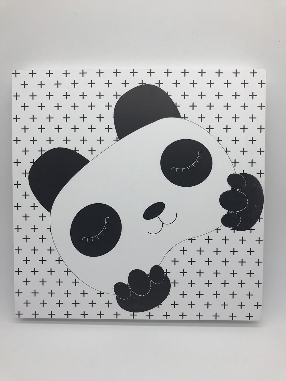 Quadro Moderninho Panda Feliz - Divino Talento Ref 7216