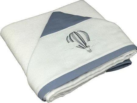 Toalha Banho Dupla Fralda Bordado Azul Diamante - Ac Baby Ref 03085 285U