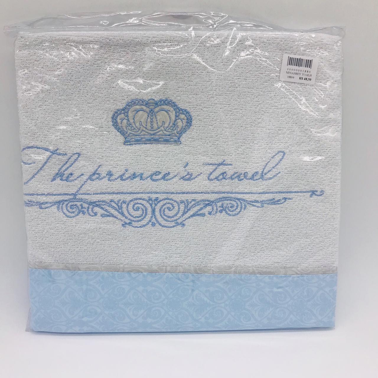 Toalha Com Forro Príncipe Azul - Minasrey Ref 3697