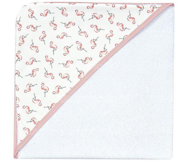 Toalha de Banho Com Capuz Estampado Flamingo - Batistela Ref 02515