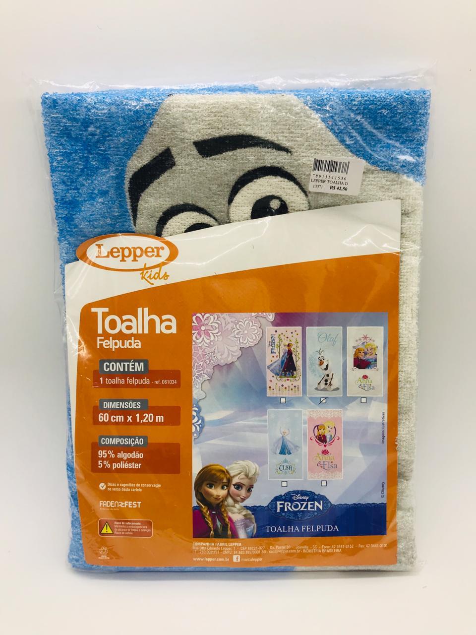 Toalha de Banho Felpuda Frozen Olaf - Lepper Kids Ref 061034