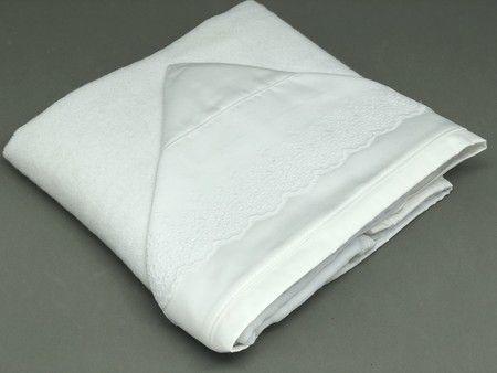 Toalha de Banho Renda Capuz Branco - ac Baby Ref 05223 1u