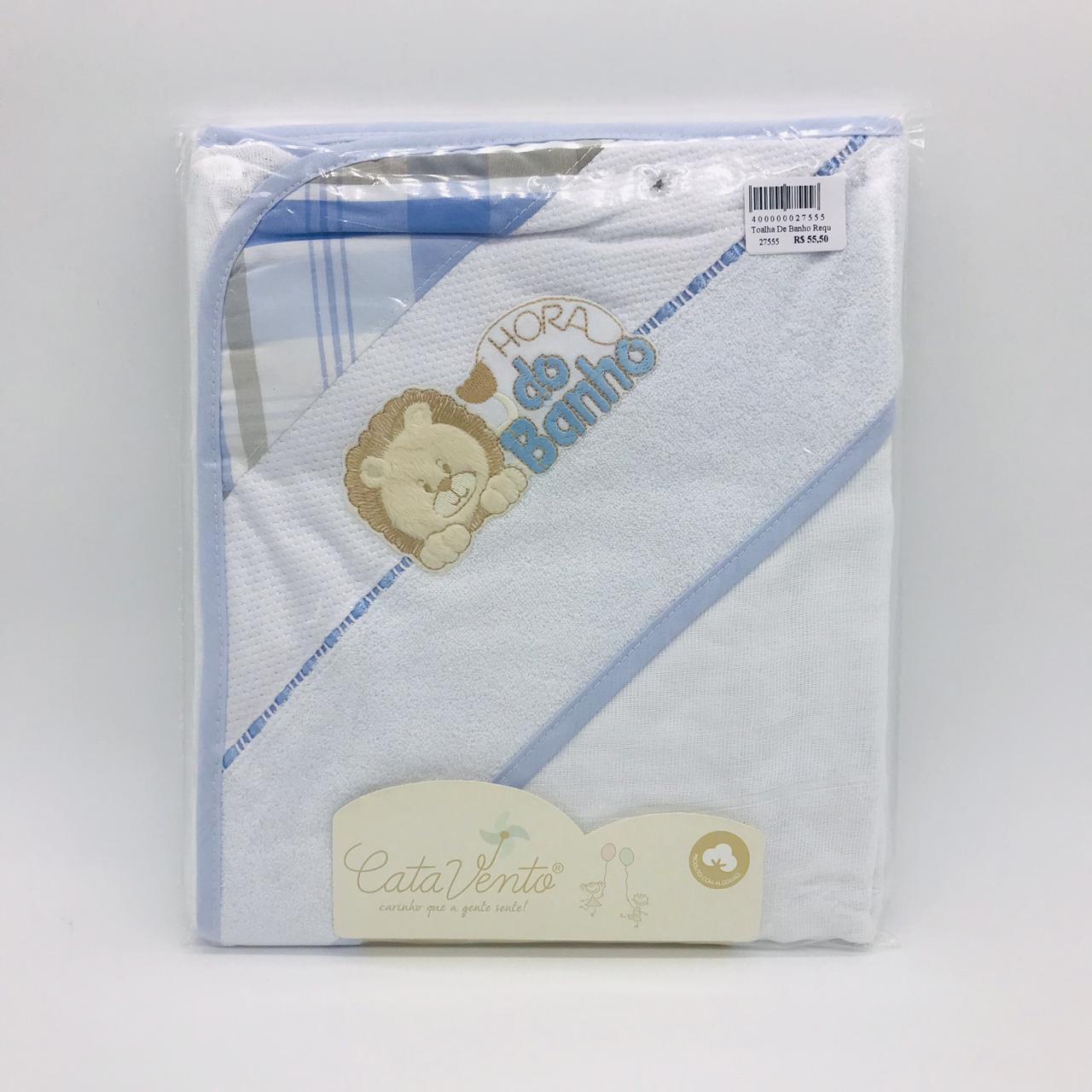 Toalha de Banho Requinte Azul Leão Bob - Catavento Ref 502