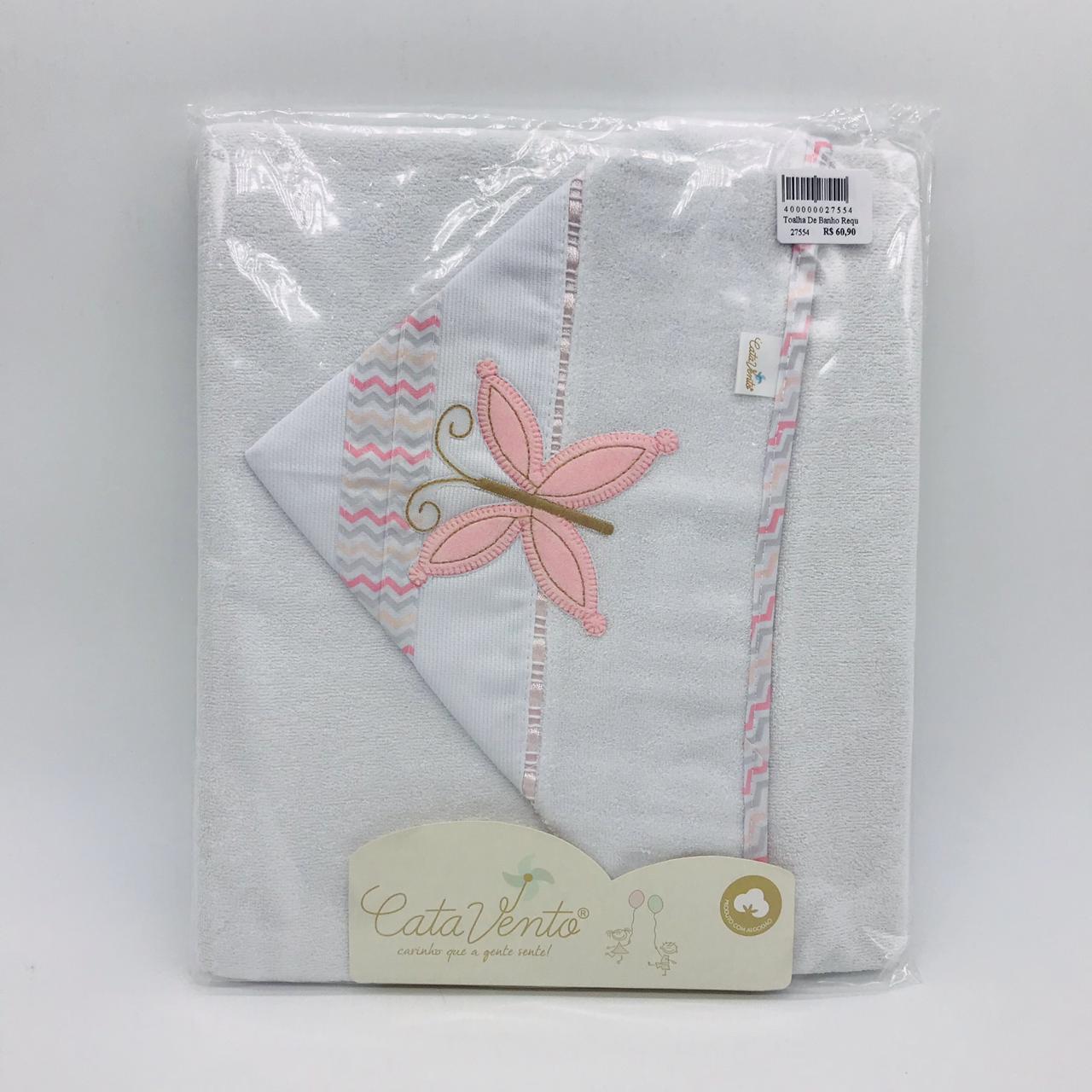 Toalha de Banho Requinte Rosa Borboleta - Catavento Ref 501